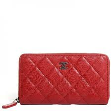 CHANEL Caviar Quilted Small Zip Around Wallet Red 98928 & CHANEL Caviar Quilted Small Zip Around Wallet Red Adamdwight.com