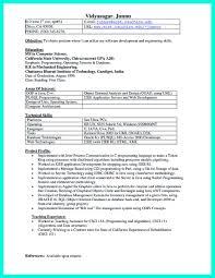 C Programmer Resume Resume For Study