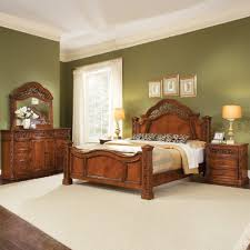 green bedroom furniture. Inspiring Teak King Bedroom Furniture Sets With Green Wall Paint Ideas And White Rugs Floral Pillows Design L