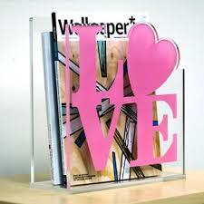 Pink Magazine Holder Love Acrylic Magazine Holder 20