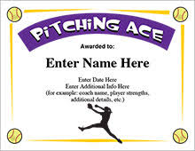 softball award certificate softball certificates free award certificates