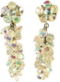 one kings lane vintage 1940s ab crystal chandelier earrings neil zevnik