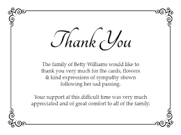 Thank You For Sympathy Card Sample Thank You Note For Funeral Flowers Writing Sympathy Cards