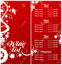 Free Wine List Template Wine List Menu Card Design Template Royalty Free Cliparts Vectors 15
