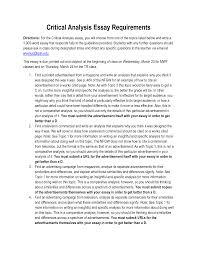 start essay critical analysis critical essay jcu
