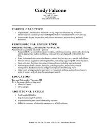 Objective Statement For Administrative Assistant Resume Entry Level Administrative Assistant Resume