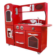 Retro Play Kitchen Set Kids Kitchen Sets Kids Kitchen Sets Pink Allin1 Retro Pottery
