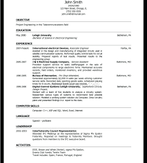 Interview Resume Sample Resume For College Application Template ...
