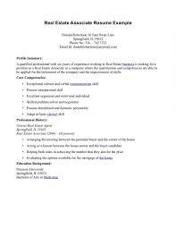 Real Estate Resume Sample Real Estate Resume Template Resume