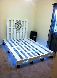 diy pallet bed frame queen with lights made out of pallets homemade bed frame pallets made from with lights diy pallet