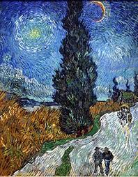 Αποτέλεσμα εικόνας για πινακες ζωγραφικης νυχτερινή πορεία