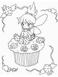 Cupcakes Kleurplaten Cupcake Aardbeien Fee