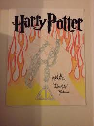 arts craftsharry potter and the ly hallows book cover drawing