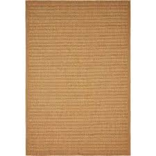 outdoor border light brown 6 x 9 rug