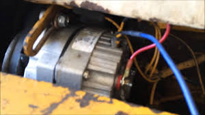 alternator wiring idiot light diesel tractor
