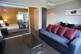 Marvelous Design Of The Single Bedroom Apartments With Blue Fabric Sofa  Ideas Added With Grey Floor