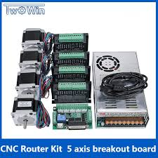4Axis/3Axis CNC Router <b>Kit</b> 4pcs TB6600 4A stepper motor driver + ...