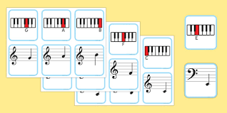 Piano Musical Note Recognition Memory Cards Piano Music