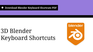 PDF] Blender Shortcuts   Blender Keyboard Shortcut keys