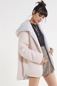 Urban Outfitters Size Chart Uo Carmella Cozy Reversible Teddy Coat In 2019 Leotard