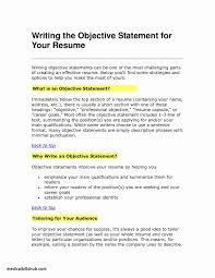 Creating A Good Resume Fresh Writing A Good Resume Objective Resume Ideas