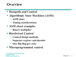 Overview Datapath And Control Algorithmic State Machines