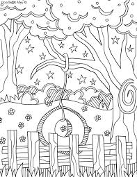 New year's kitten in a hat. Summer Coloring Pages Doodle Art Alley