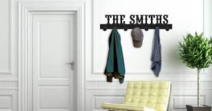 Custom Coat Racks Personalized Lettering Coat Rack wall decals Dezign With a Z 1