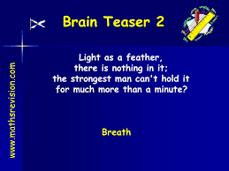 Light As A Feather There Is Nothing In It Ppt Brain Teaser 1 Powerpoint Presentation Free Download