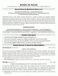 Sales And Marketing Manager Resume Sample Resume Senior Sales