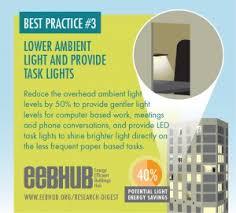 decrease ambient light levels and add task lights add task lighting