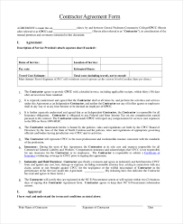 Independent Contractor Agreement Template General Contractor Contract Forms Independent Contractor Agreement