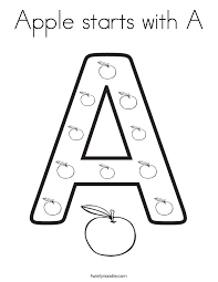 strikingly inpiration letter coloring page apple starts with a coloring page