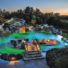 backyard pools with waterfalls and slide. Fine Waterfalls Unique Pool Backyard Waterfall Slide Designs Intended Pools With Waterfalls And