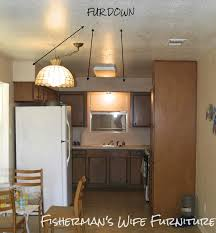 Lights Above Kitchen Cabinets Fishermans Wife Furniture Covering Fur Down The Space Above
