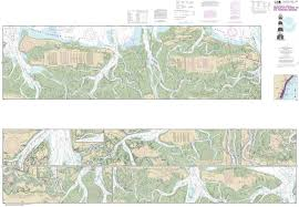 11507 Intracoastal Waterway Beaufort River To St Simons Sound East Coast Nautical Chart