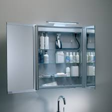 mirror bathroom cabinet. roper rhodes refine led illuminated mirrored bathroom cabinet - 615mm doors open mirror