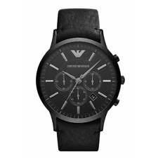emporio armani mens watch new emporio armani ar2461 mens black renato chronograph watch rrp £329 00