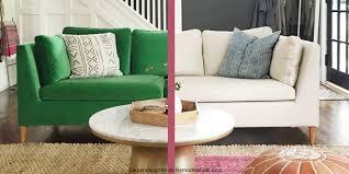 sofa slipcovers ikea remodelaholic easily change a room with a custom ikea sofa slipcover