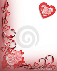 Valentine Or Wedding Invitation Border Stock Illustration