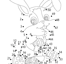 Easter Bunny Coloring Pages Free Printable North Kids Funny F Pict