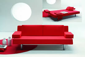 sofa bed design. Great Sofa Beds For Small Bedrooms Design : Fabulous Red Modern Metal Frame Bed