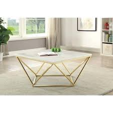 contemporary faux marble coffee table white and gold round uk