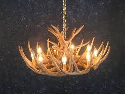 antler chandelier faux canada