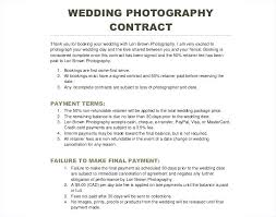 Photography Contracts Photography Agreement Template