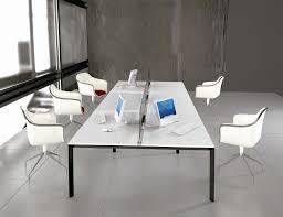 Modern Minimalist White Office Furniture With Workstation Separator