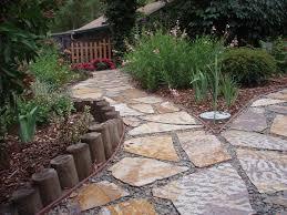 stone patio installation: the gravel path outdoor patio design ideas lonny