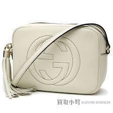 kaitorikomachi gucci soho leather small disco bag white leather tassel charm interlocking grip g cross shoulder bag fringe 308364 a7m0g 9022 soho