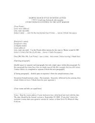 Block Letter Format Template Best Business Template