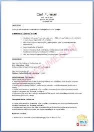 Kindergarten Teacher Resume Sample With Objective Perfect Resume